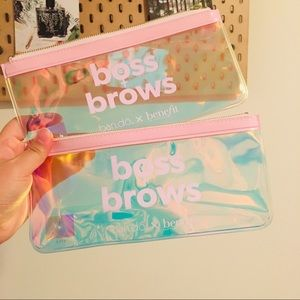 Free 2 bando benefit boss brows clear cosmetic bag